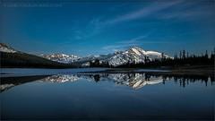Sierra Twilight (TomGrubbe) Tags: california mountain lake reflection landscape twilight pond yosemite easternsierras mammothpeak danameadows