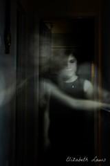 Ghosts in the house (Elizabeth Laws) Tags: ghost dark child night white portrait girl quiet black
