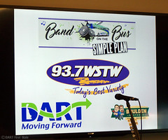 DART & WSTW Band on the Bus - studio back board at Simply Plan concert, Wilmington DE 6-14-16 (DART First State) Tags: publictransportation delaware masstransit wilmington dart dartfirststate delawarebuscompany delawarebuses 937wstw simplyplan
