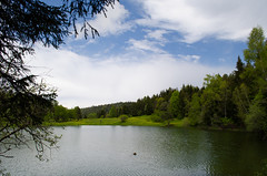 Kaxisi Lake (Andgula) Tags: trees lake reflection green nature water clouds photography photo nikon photographer cloudy outdoor hiking kaxisi d5100