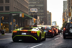 SV at Sundown. (ChrisChung722) Tags: toronto verde green lamborghini coupe sv yorkville singh scandale aventador lp7504