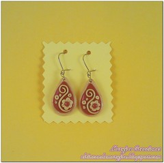 Arcilla Polimerica Pendientes Largos Filigrana con Marca de Agua (maryjoecraft) Tags: polymerclay fimo earrings pendientes polyclay arcilla polimerica sculplay