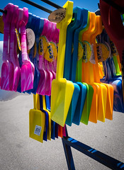 Happy Hour 1 (S's images) Tags: plastic multi seaside bucket spade summer bognor regis promedade