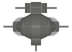SSXDragonshark006 (Dragonov Brick Works) Tags: lego submarine snot ldraw microscale studless
