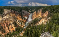 Yellowstone Canyon and Lower Falls (Cole Chase Photography) Tags: canon waterfall yellowstone wyoming lowerfalls eos5dmarkiii