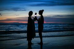 girl ( ) Tags: light sea girl night  5d3   50mmf18stm jashangtang