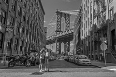 Selfie, DUMBO Brooklyn (danperezfilms) Tags: brooklyn dumbo manhattanbridge bridge newyorkcity newyork streetphotography blackandwhite
