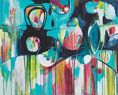 Jumping in Puddles (Kelly Luna) Tags: abstract art painting