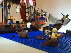 The Battle of Bluecoat Bay - The Pirates (bricktasticblog) Tags: ship pirates tail whale pirateship whaletail bluecoatbay