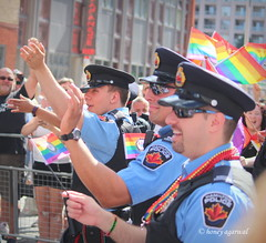 Toronto Police (Honey Agarwal) Tags: street blue people ontario canada colour love beautiful march amazing rainbow globe support uniform walk flag july police happiness parade special laugh biggest supporting sunnyday blackdress blogto torontolife prideto parade2016 blogtopride