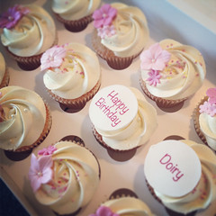 Pretty Pink Birthday Cupcakes