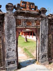 Purple Forbidden City (Harris' Photos) Tags: gate citadel vietnam imperialcity purpleforbiddencity emperorgialong unescositein1993