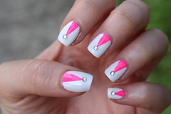 Living After Midnite : Jackie Giardina : White & Pink Nail Art : Born Pretty Store (jackiegiardina) Tags: pink summer white hot art born living store jackie pretty crystals nail polish after rhinestones orly nailart essie midnite giardina bornprettystore livingaftermidnite jackiegiardina