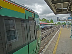 Redhill Diversion (Deepgreen2009) Tags: electric train south railway southern redhill gatwick diversion 442 377