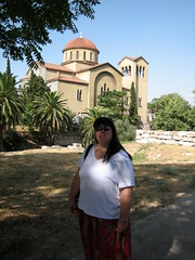 057 - Jaime & Church (Scott Shetrone) Tags: family people other graveyards events churches places athens greece 5th kerameikos anniversaries jaimeshetrone