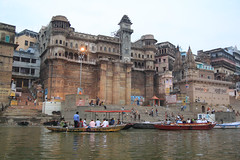 life on the river (lethologically) Tags: people india heritage history tourism water sunrise buildings river temple boat asia buddha religion silk places blessing holy varanasi ritual hindu hinduism oldcity ganges sarnath riverbanks ghat holywater northindia historicalsites oldcities heritagesites incredibleindia