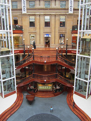 Princes Square (Spannarama) Tags: uk stairs spiral glasgow shoppingcentre staircase elevators railings lifts banisters princesquare