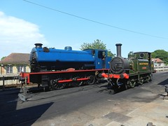 Two Little Engines (Bob Passmore ( steamie bob )) Tags: railway steamengine freshwater w8 waggoner 060st 060t a1x wd192