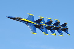 Blue Angels Stacked (Firepres28) Tags: show blue plane gold andrews force aircraft navy hornet base fa18