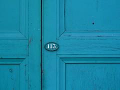 113 (Turquoise) (the justified sinner) Tags: door old macro md birmingham rust paint minolta zoom turquoise panasonic number 35 113 eastmidlands gh2 3570 justifiedsinner