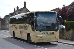 Excelsior 615 YN57OTY (Will Swain) Tags: uk summer england bus castle buses train britain south railway august trains southern dorset corfe swanage excelsior 615 2013 yn57oty