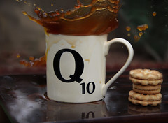 Q (going_nowhere) Tags: film coffee cookie q skyfall qmug scrabblemug coffeesplash