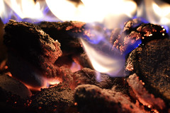 Fire (Chris_Jones.) Tags: blue red hot yellow fire nikon burning flame burned coals combustion d3200