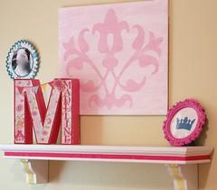 Princess Room Decor (lyndajb7) Tags: silhouette print princess cut letter cameo decor initial