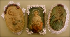 new virgin mary ornaments (barbara schr) Tags: handmade mary felt virgin