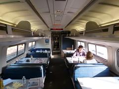 201309113 Amtrak Amfleet I cafe car (taigatrommelchen) Tags: railroad usa ny newyork train railway amtrak onboard 20130938