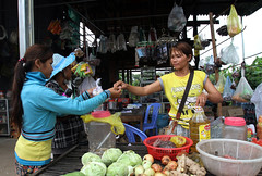Market stall (World Bank Photo Collection) Tags: woman vegetables shop cambodia commerce cambodian agrarian stall business buy produce farmer agriculture sell selling sme buying entrepreneur kratie