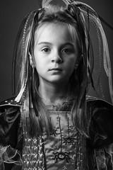 Milly Halloween (A Deakin) Tags: portrait blackandwhite halloween girl studio canon5dmkiii