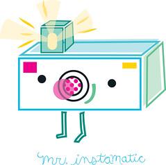 mr. instamatic (Jill Howarth) Tags: camera illustration vector flashbulb