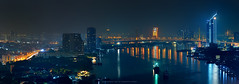 Rama IX Bridge in Bangkok : Panorama 11,105x4,495 Pixel