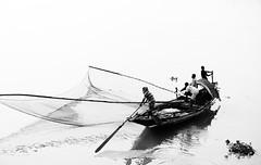 IMG_2673 (Dipanjan Roy) Tags: blackandwhite contrast reflections river boat blackwhite fishing riverbank kolkata bengal ganges hooghly