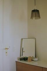 i reckon you're about an eight or a nine (sisselandrea) Tags: camera wood sunlight plant detail reflection home lamp vertical analog 35mm vintage denmark bathroom photography gold mirror design europe kodak interior decoration retro shade analogue praktica photograher fujicolor mtl3 myphotography youngphotographer prakticamtl3 sisselandrea hoejre