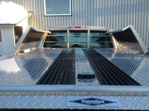 Custom Aluminum Truck Bed Cover Used As Snowmobile Deck A Photo On