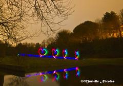 Heart reflections ( MissChief Photography ) Tags: light lightpainting reflection hearts stmartin reservoir jersey queenvalleyreservoir 114picturesin2014mirrored