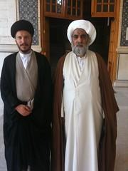 Sheikh with Sayed al-Hakim