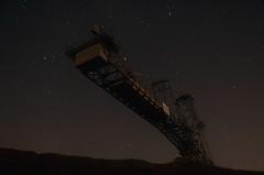 Martin Lovekosi (Martin Lovekosi) Tags: night stars long exposure leipzig massive mystic tagebau bagger bergbau technikpark {vision}:{sky}=0569 {vision}:{outdoor}=0944