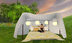 A Day Out! (TinLiz_WinterStorm) Tags: camping outdoors fort sl secondlife blanket mattress tarte blanketfort