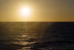 Sailing on the Horizon (Schelvism) Tags: ocean sun sailboat hawaii boat warm waves sailing afternoon pacific bright horizon maui flare sail kihei