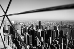 Top of the Empire State Building (Giuliana Gallana) Tags: nyc bw ny newyork rooftop concrete blackwhite manhattan pb empirestatebuilding