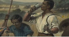 9. ration_of_whisky_Drinking_in_field_George_Washington_Farmer_painting_detail