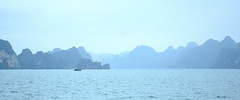dreamy afternoon (maianhvk) Tags: blue sea rock bay boat scenery long vietnam layer ha