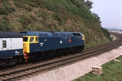 Langstone Rock Class 47 1985 (21c101) Tags: brush devon 1985 redstar dawlishwarren