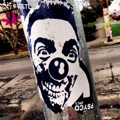 Portland, OR (PSYCO ZRCS 10/12) Tags: street art portland sticker stickerart artist stickers artists psyco bombing skam stickerporn
