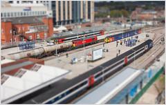 Micro Machines (Resilient741 Photography) Tags: nottingham photoshop landscape cityscape trains db class east 60 tanks intercity 43 midlands 156 125 hst tiltshift schenker toytown micromachines ews 60024 43049 158854 6e41