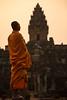 Monk in Bakong temple in Angkor (Jonathan Haider) Tags: temple cambodge cambodia monk angkor moine bakong roluos