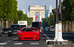 F Forty (darkoos) Tags: paris milan car canon de photography champs arc triomphe ferrari concorde legend rosso kb supercar corsa f40 v12 elysée 550d durkovic
